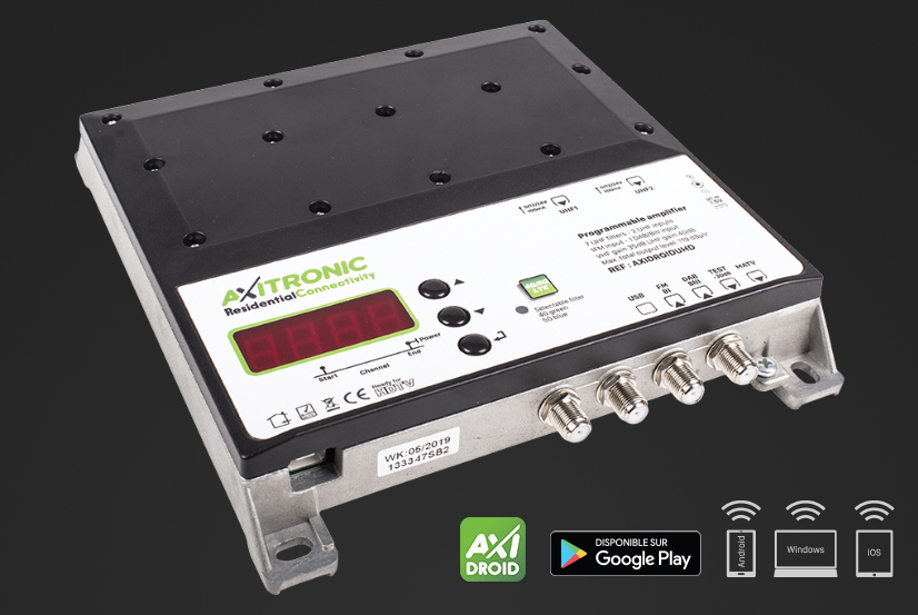 AXIDROIDUHD : Nouvelle station programmable d'amplification et de filtrage