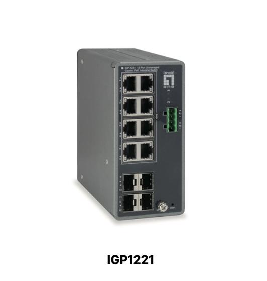 Switch industriel 12 ports Gigabit PoE