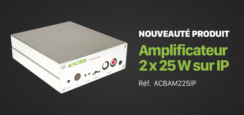 Amplificateur 2x25W sur IP