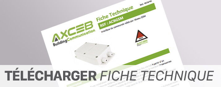 Fiche technique interface GSM