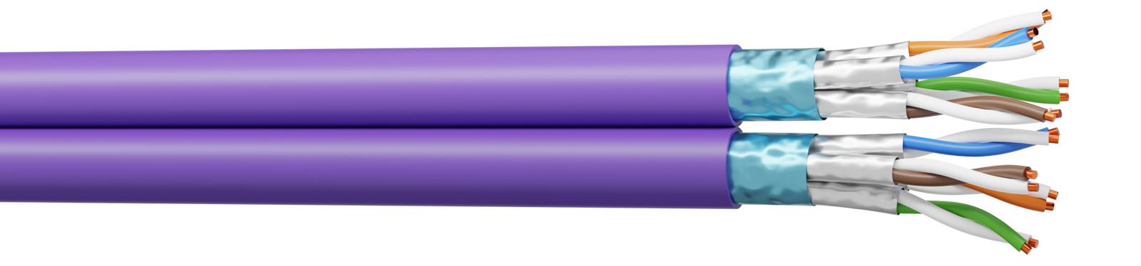 câble CAT 6A F/FTP - 4p PoE